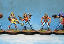 Rocker band  (from EM 4 miniatures - Future skirmish)