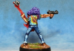 Rocker Bass Player With Machine Pistol back  (from EM 4 miniatures - Future skirmish).JPG