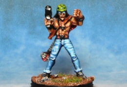Rocker Guitarist With Machine Pistol  (from EM 4 miniatures - Future skirmish)