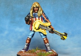 Rocker Guitarist With Machine Pistol 2 (from EM 4 miniatures - Future skirmish)