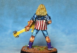Rocker Guitarist With Machine Pistol 2 back (from EM 4 miniatures - Future skirmish)