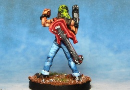 Rocker Guitarist With Machine Pistol back (from EM 4 miniatures - Future skirmish)