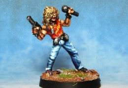 Rocker Singer With Heavy Pistol  (from EM 4 miniatures - Future skirmish)