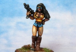 Bikers Female  SMG Shorts Boots (from EM 4 miniatures - Future skirmish)