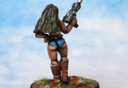Bikers Female  SMG Shorts Boots back (from EM 4 miniatures - Future skirmish)