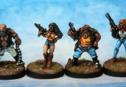 Bikers gang (from EM 4 miniatures - Future skirmish)
