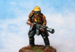 Bikers Male Flamethrower Bandana (from EM 4 miniatures - Future skirmish)