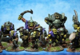 Orc group (from EM 4 miniatures - Fantasy range)