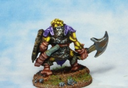 Orc with axe 1 back (from EM 4 miniatures - Fantasy range)