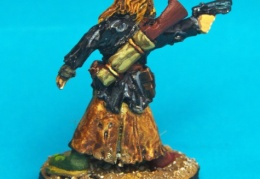 Scavenger - Standing Shooting Handgun back (Forlorn Hope - Future Skirmish)