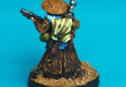 Scavenger - Standing with Shotgun and Straw Hat back (Forlorn Hope - Future Skirmish)