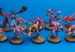 chaos daemon Pink Horrors 2 (Games workshop)