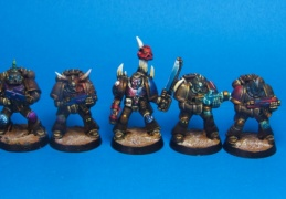 chaos space marine squad (Games workshop)
