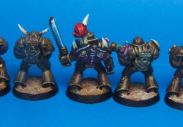 chaos space marine squad back (Games workshop)